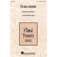 Hal Leonard Fa Una Canzona TTBB A Cappella arranged by William Powell