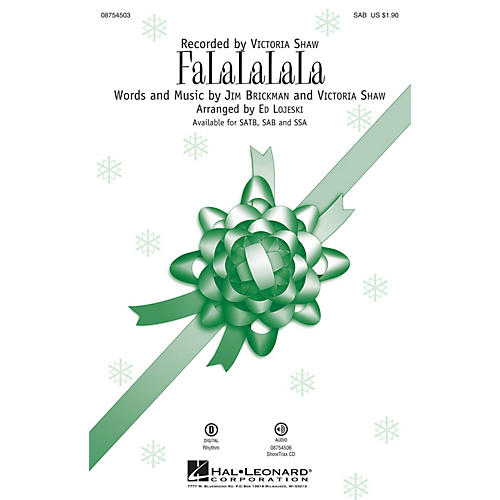 Hal Leonard FaLaLaLaLa SAB by Victoria Shaw arranged by Ed Lojeski