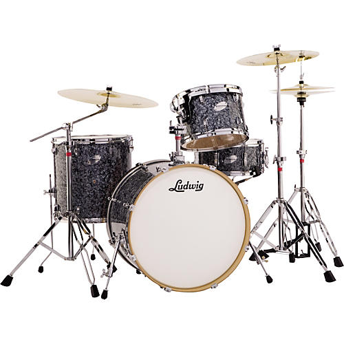 Ludwig Fab 4 Accent Series Piece Drum Set With Hardware