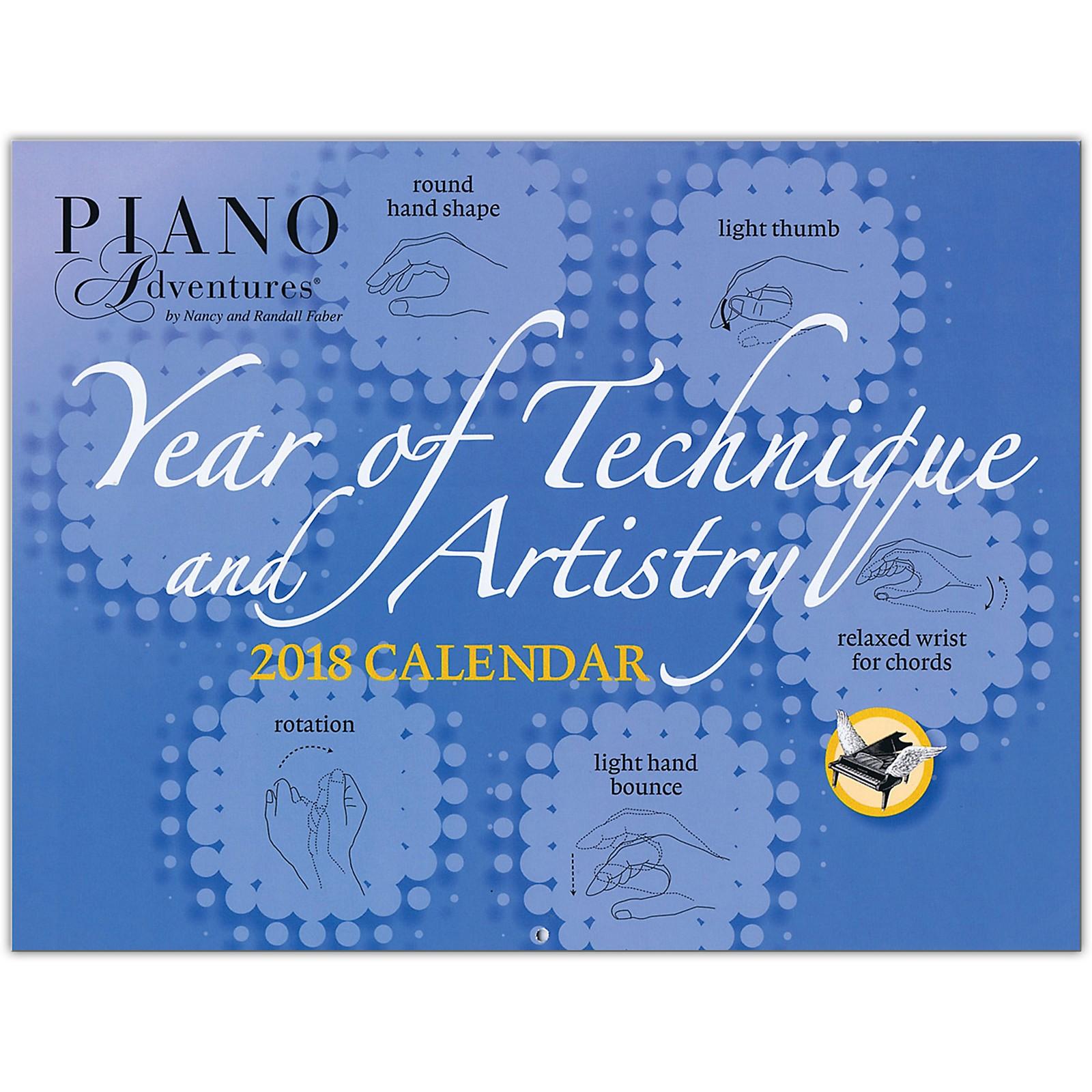 Faber Piano Adventures Faber Piano Adventures Year of Technique & Artistry 2018 Calendar
