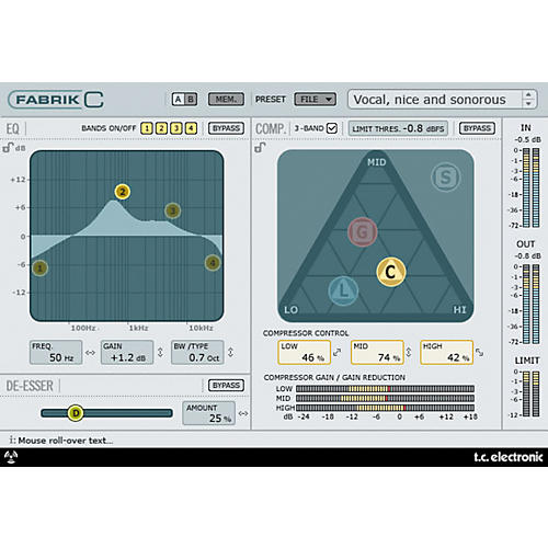 TC Electronic Fabrik C Channel Strip Plug-in for Powercore