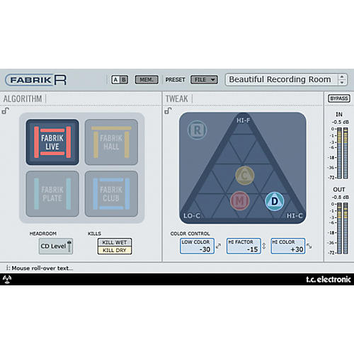 TC Electronic Fabrik R Reverb Plug-in for Powercore