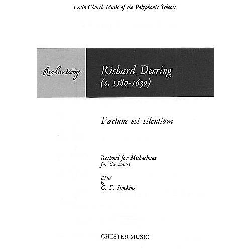Chester Music Factum est Silentium SSATTB Composed by Richard Dering Arranged by C. F. Simkins