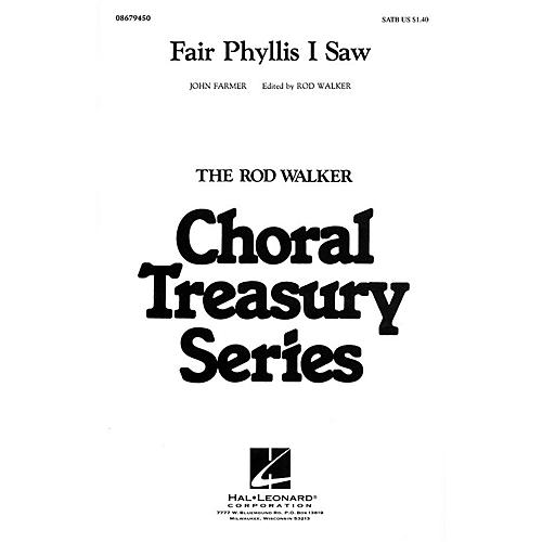 Hal Leonard Fair Phyllis I Saw SATB arranged by Rod Walker