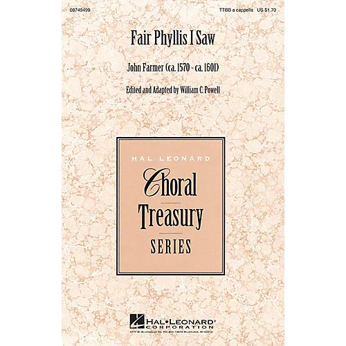 Hal Leonard Fair Phyllis I Saw TTBB A Cappella composed by John Farmer