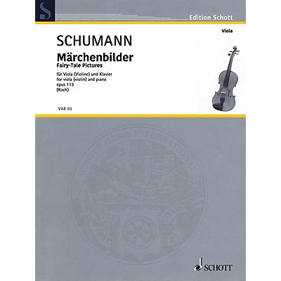 Schott Fairy-Tale Pictures, Op. 113 Viola and Piano - String Solo