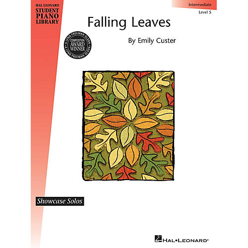Hal Leonard Falling Leaves Piano Library Series Book by Emily Custer (Level Inter)