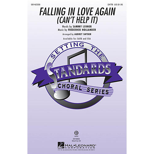 Hal Leonard Falling in Love Again (Can't Help It) ShowTrax CD Arranged by Audrey Snyder