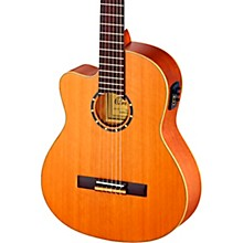 Open Box Ortega Family Series Pro RCE131 Acoustic-Electric Left-Handed Classical Guitar