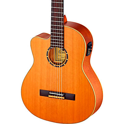 Ortega Family Series Pro RCE131 Acoustic-Electric Left-Handed Classical Guitar