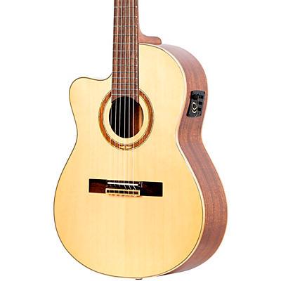 Ortega Family Series Pro RCE138-T4-L Thinline Acoustic Electric Nylon Guitar