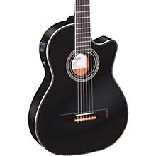 Open BoxOrtega Family Series Pro RCE145BK Thinline Acoustic-Electric Nylon Guitar