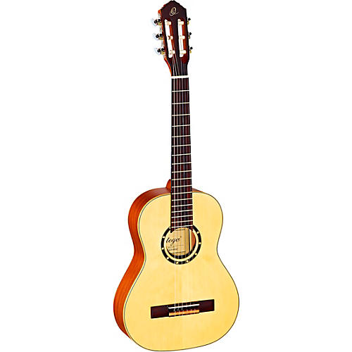 Ortega Family Series R121-1/2 1/2 Size Classical Guitar Satin Natural 0.5