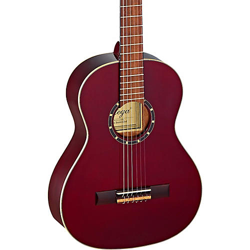 Ortega Family Series R121-3/4WR 3/4 Size Classical Guitar Transparent Wine Red 0.75