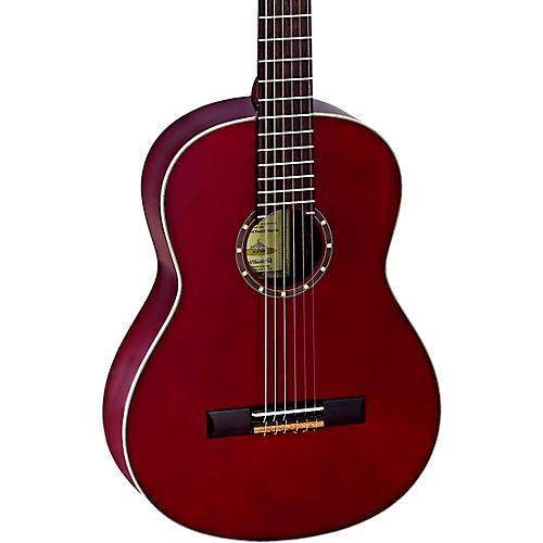 Ortega Family Series R121WR Classical Guitar Transparent Wine Red