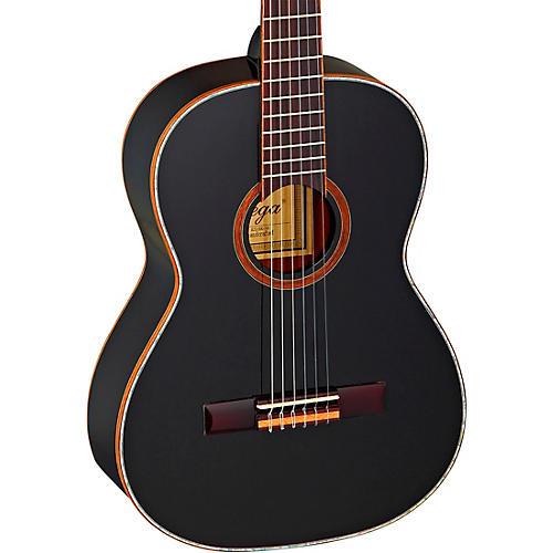 Ortega Family Series R221BK-7/8 7/8 Size Classical Guitar Gloss Black 0.875