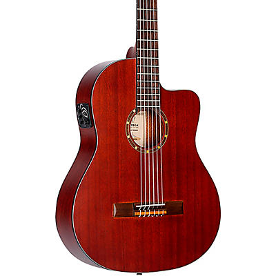 Ortega Family Series RCE125MMSN Thinline Acoustic-Electric Nylon Guitar