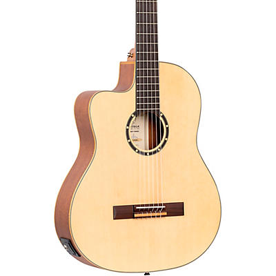 Ortega Family Series RCE125SN-L Thinline Acoustic/Electric Classical Guitar