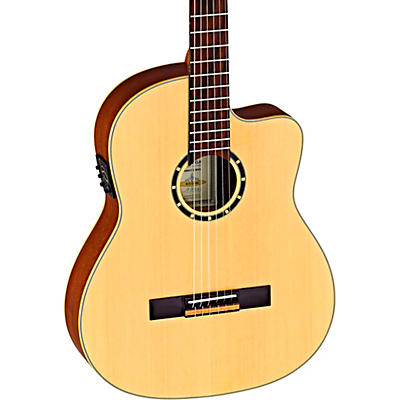 Ortega Family Series RCE125SN Thinline Acoustic-Electric Classical Guitar