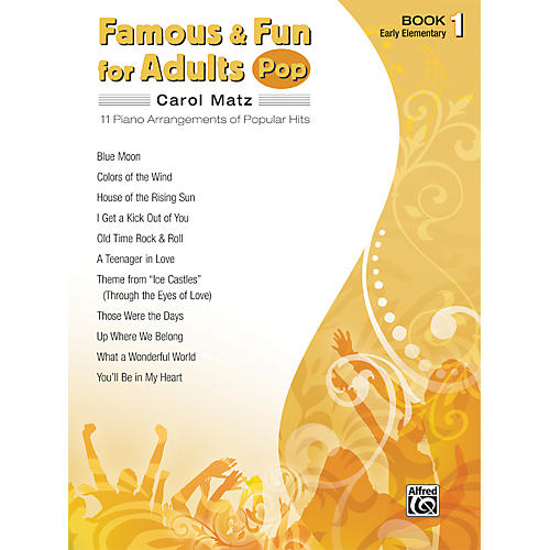 Alfred Famous & Fun for Adults Pop Book 1 Piano