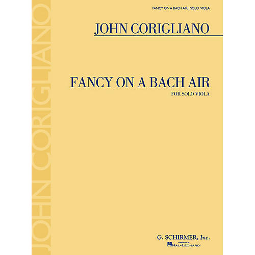 G. Schirmer Fancy on a Bach Air (for Viola Solo) String Series Softcover