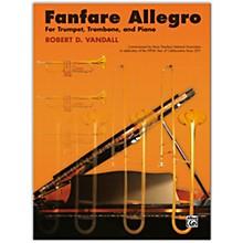Alfred Fanfare Allegro Trumpet, Trombone & Piano Intermediate