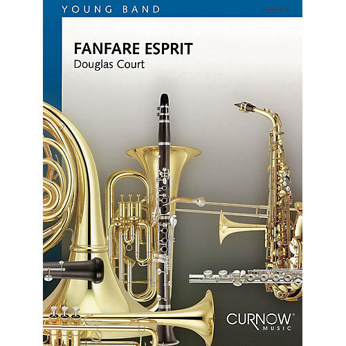 Curnow Music Fanfare Esprit (Grade 2 - Score Only) Concert Band Level 2 Composed by Douglas Court