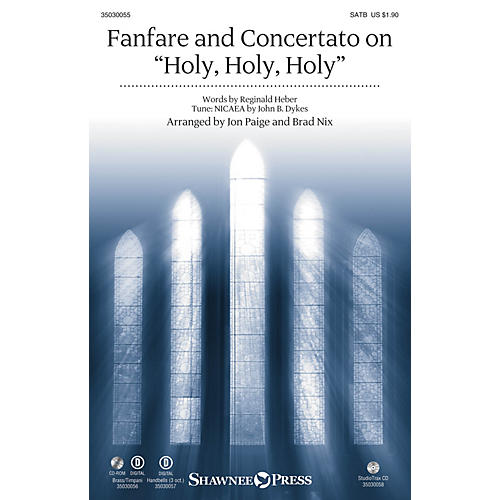Shawnee Press Fanfare and Concertato on Holy, Holy, Holy Studiotrax CD Arranged by Jon Paige