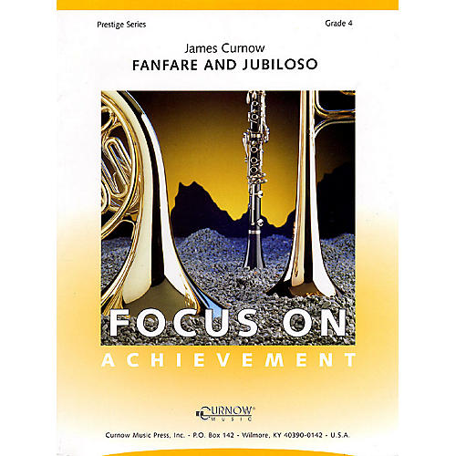 Curnow Music Fanfare and Jubiloso (Grade 4 - Score Only) Concert Band Level 4 Composed by James Curnow
