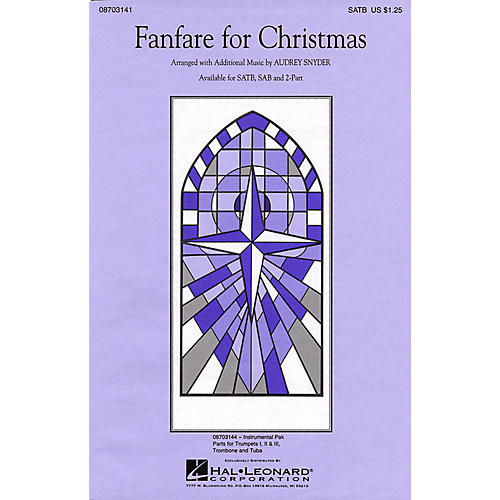 Hal Leonard Fanfare for Christmas (Medley) SATB arranged by Audrey Snyder