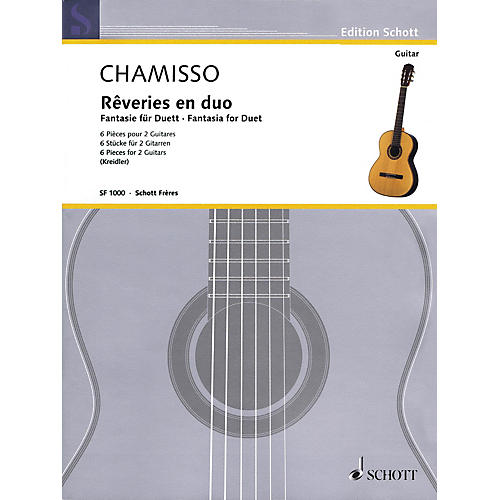 Schott Fantasia for Duet (Six Pieces for Two Guitars) Guitar Series Softcover