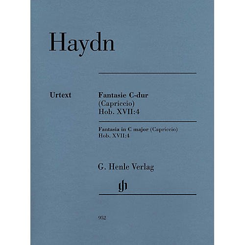 G. Henle Verlag Fantasia in C Major (Capriccio) Hob. XVII:4 Henle Music Softcover by Haydn Edited by Sonja Gerlach