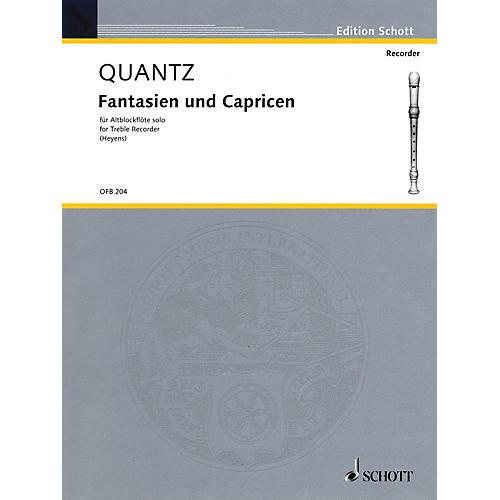 Schott Fantasias & Caprices (6 Sonatas for Treble Recorder) Schott Series Softcover
