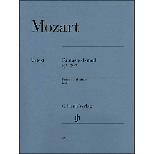 G. Henle Verlag Fantasy D Minor K397 (385G) By Mozart