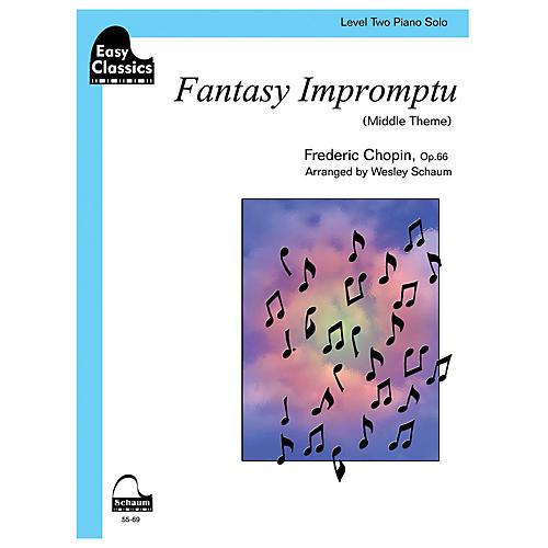 SCHAUM Fantasy Impromptu Educational Piano Series Softcover