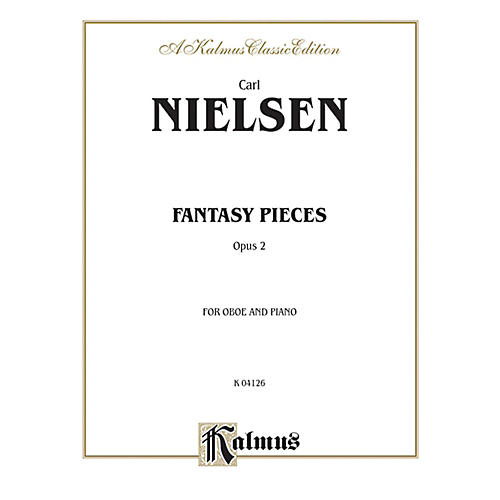 Alfred Fantasy Pieces Op. 2 for Oboe By Carl Nielsen Book