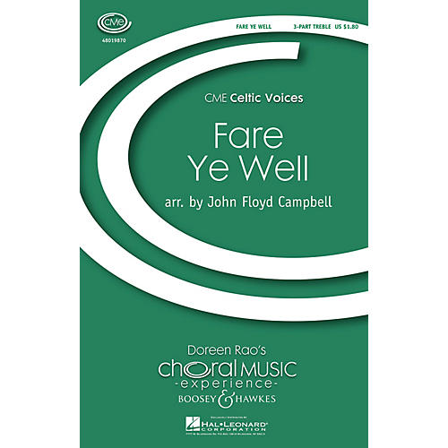 Boosey and Hawkes Fare Ye Weel (CME Celtic Voices) 3 Part Treble arranged by John Floyd Campbell