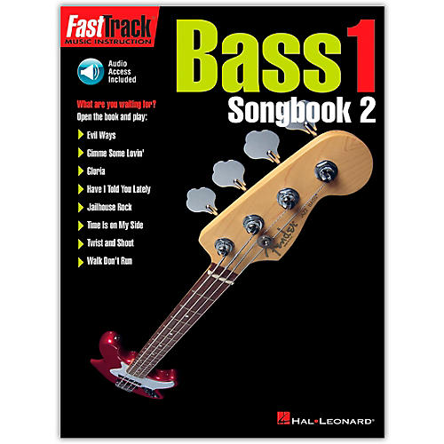 Hal Leonard FastTrack Bass Songbook 2, Level 1 (Book/Online Audio)