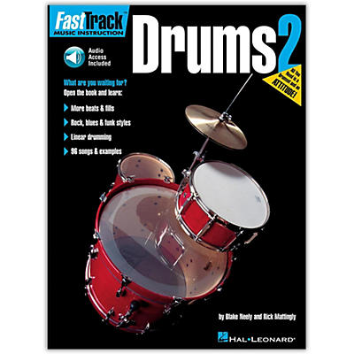 Hal Leonard FastTrack Drum Method - Book 2 with Online Audio