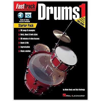 Hal Leonard FastTrack Drum Method - Starter Pack Book/Online Audio and Video