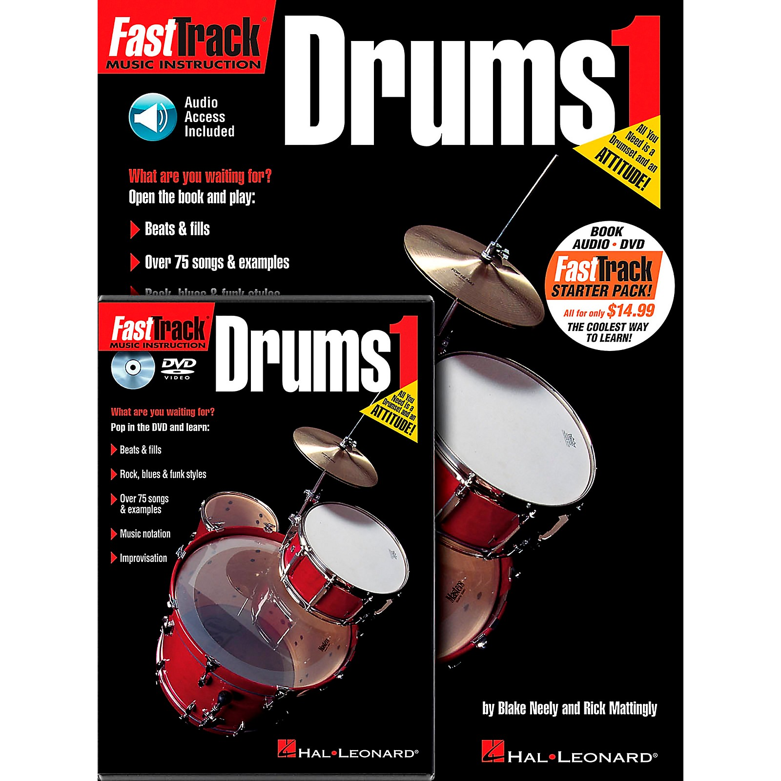 Hal Leonard FastTrack Drum Method Starter Pack (Book/Online Media)