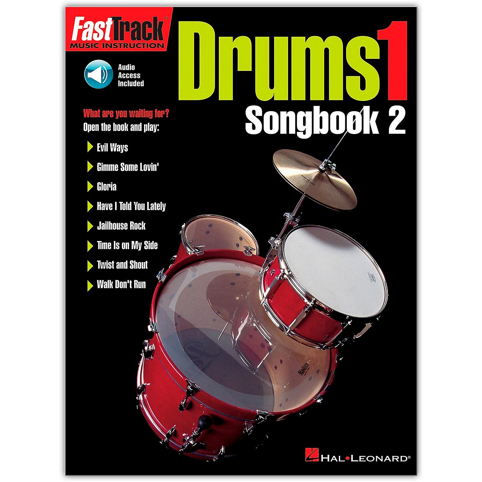 Hal Leonard FastTrack Drum Songbook 2 - Level 1 (Book/Online Audio)