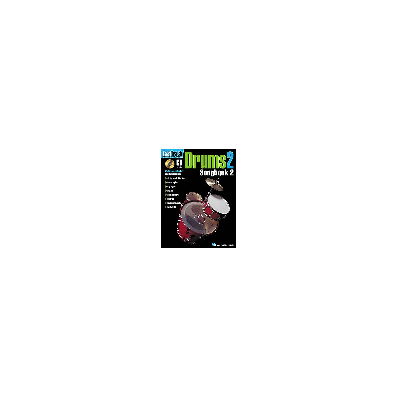 Hal Leonard FastTrack Drums Songbook 2 - Level 2 Book/CD