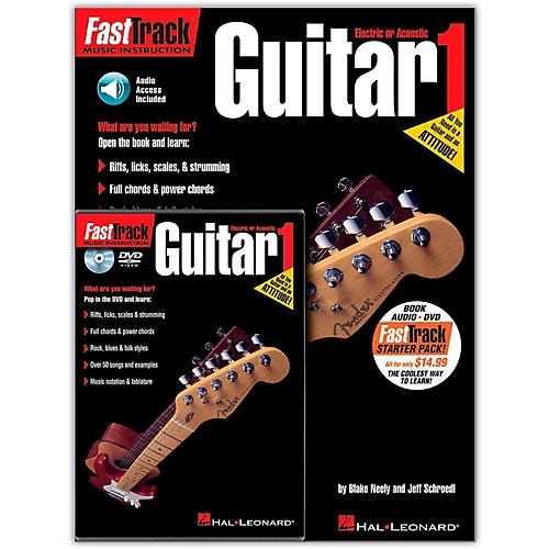 Hal Leonard FastTrack Guitar Method Starter Pack - Includes Book/Online Audio/Content