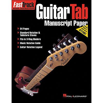 Hal Leonard FastTrack Guitar Tab Manuscript Paper