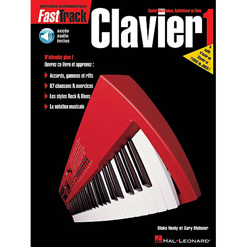 Hal Leonard FastTrack Keyboard Method - Book 1 - French Edition Fast Track Music Instruction BK/Audio Online