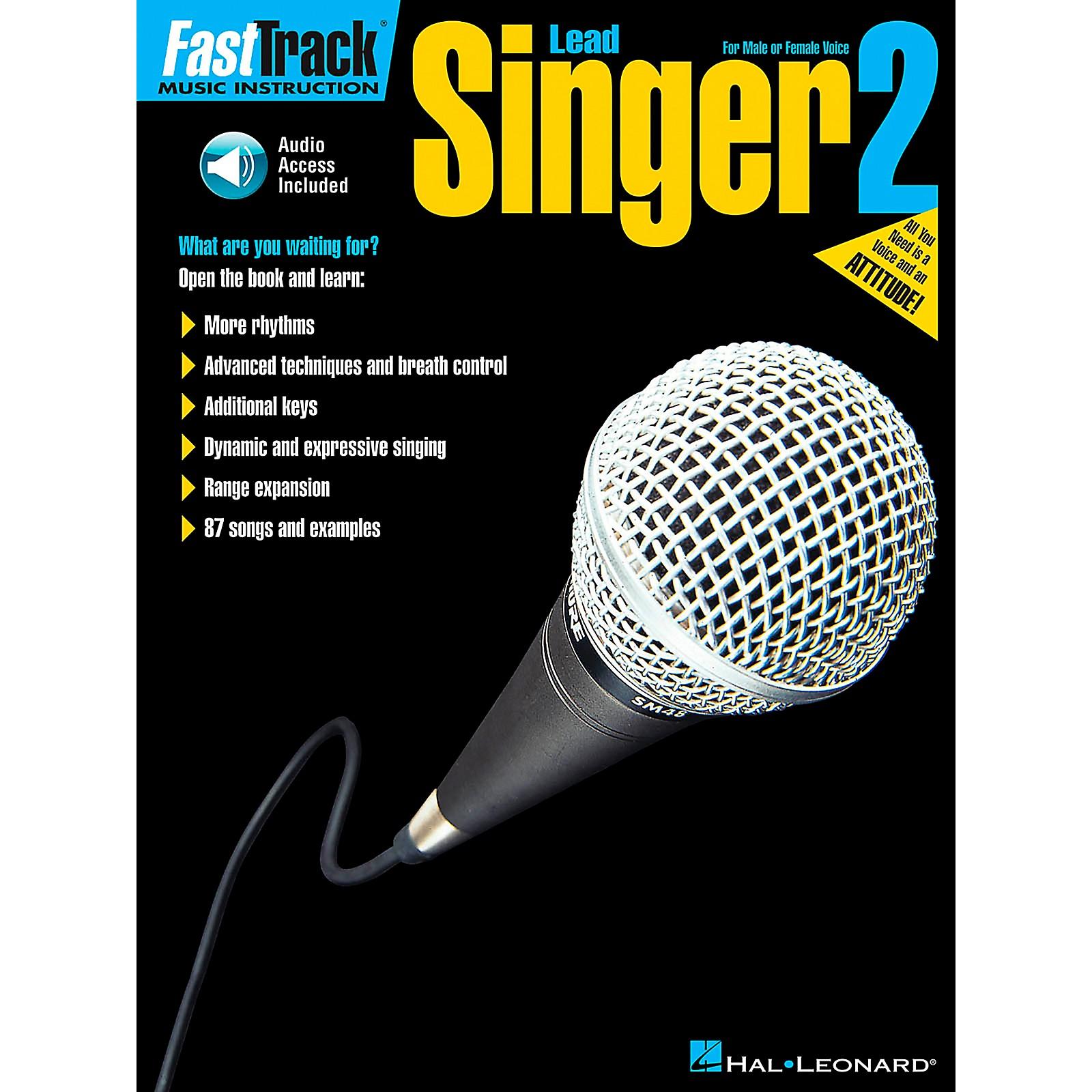 Hal Leonard FastTrack Lead Singer Method Book 2 Book/CD