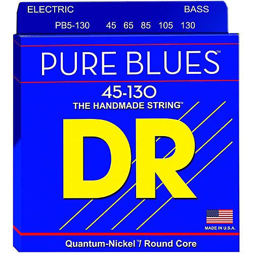 DR Strings Fat-Beams Stainless Steel Medium 5-String Bass Strings (45-130)