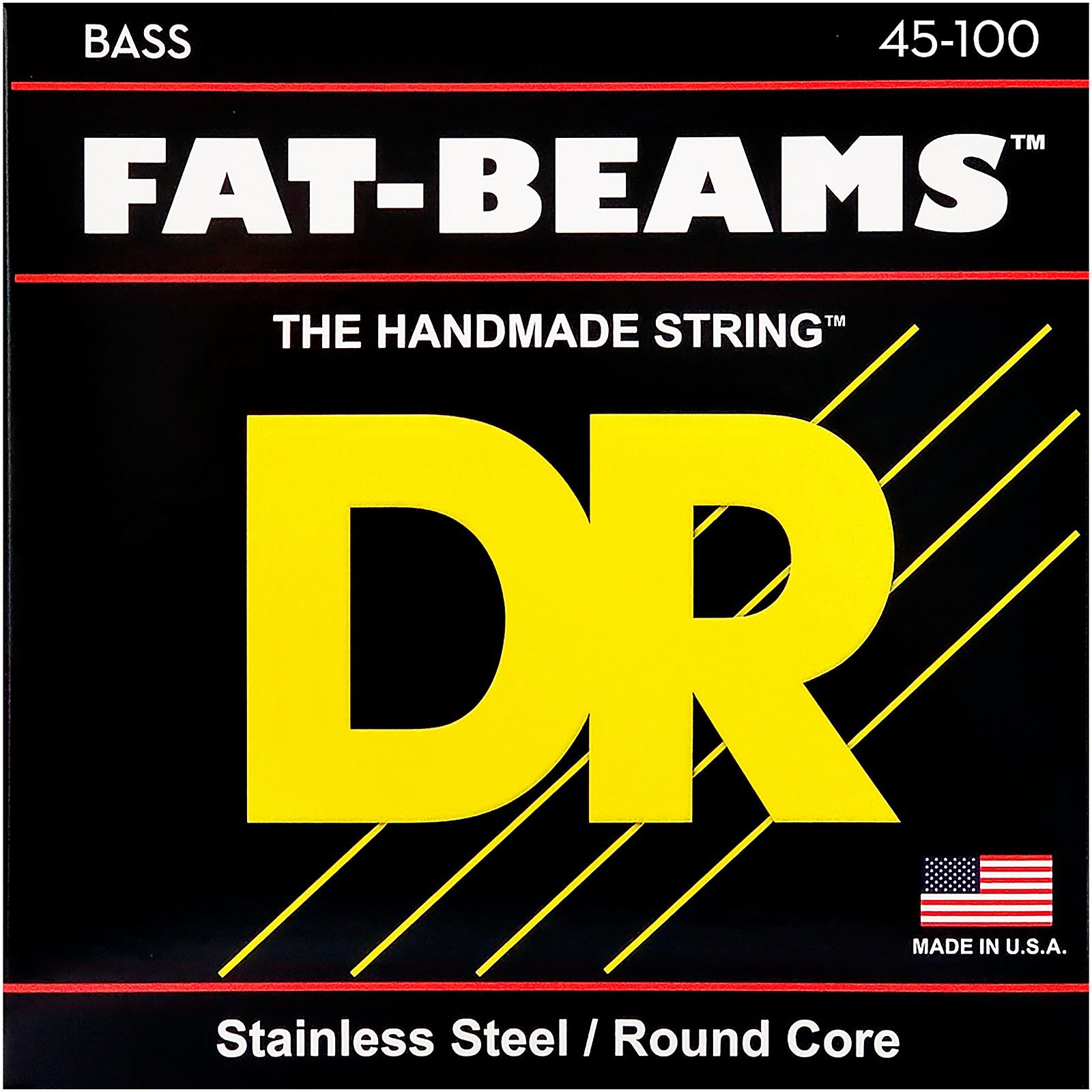 DR Strings Fat-Beams Stainless Steel Medium-Lite 4-String Bass Strings (45-100)