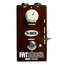 Open Box T-Rex Engineering Fat Shuga Boost with Reverb Guitar Effects Pedal